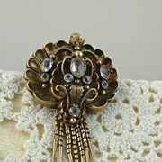SALE 14K Early Paste Brooch/Pendant