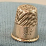 Estate 14K Gold Size 10 Thimble