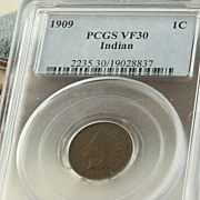1909 Graded Indian Head Penny PCGS VF30