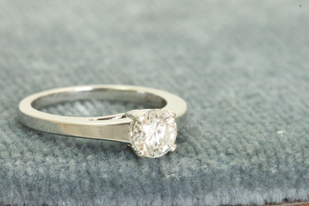 Estate Platinum 0.75 CT Old European Cut Diamond Solitaire