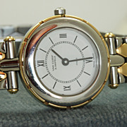SALE Estate 18K and Stainless Van Cleef & Arpels Watch