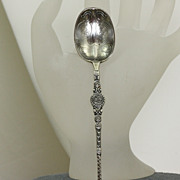 Sterling Birmingham Embossed Spoon