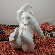SALE Porcelain Bear with Relaxed Attitude