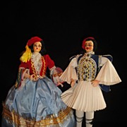 SALE Regal Vintage Cloth Regional Costume Dolls-Charming!