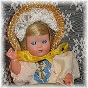 SALE Super Cute Vintage Celluloid Swiss Maid Doll
