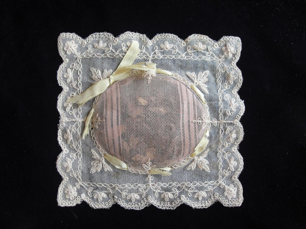 Delicate Antique Tambour Lace Sachet-Full of Potpourri