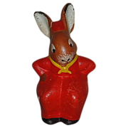 SALE Hilarious Vintage German Mrs. Rabbit Easter Decoration