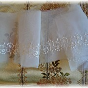 SALE Silky Vintage Embroidered Organza Lace