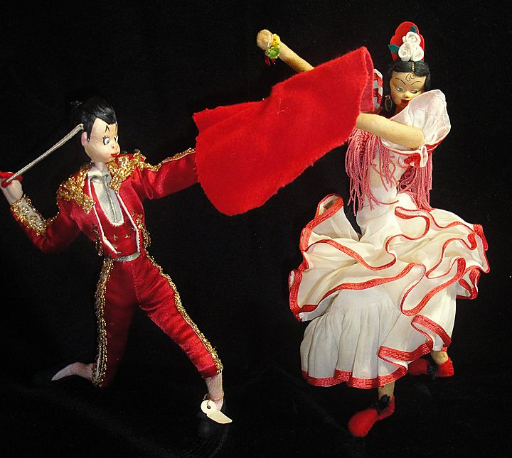 Hilarious Vintage Spanish Dolls-Matador & Senorita!