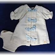 SOLD Precious Vintage Flannel Doll Gown & Diaper