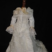 SALE Splendid French Fashion Doll Outfit! White Voile & Lace