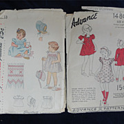 SALE Two Adorable Vintage Girls' Patterns-Smocking!