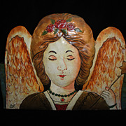 SALE Lovely Hand Painted Angel Planter