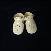SALE Sweet Little White Doll Shoes