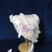 SALE YUMMY Vintage Baby Doll Bonnet-Pink!