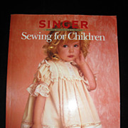 SALE &quot;Sewing For Children&quot;-Singer Sewing Book