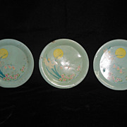 SALE Three Ohio Art &quot;Fairies&quot; Pattern Plates