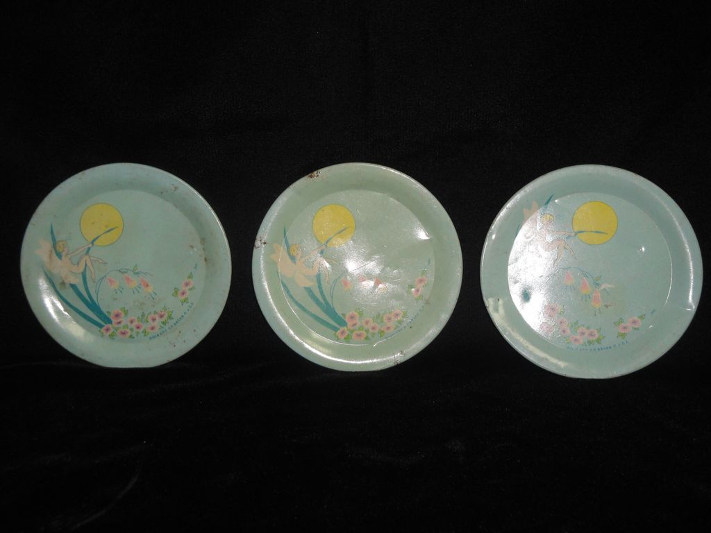 Three Ohio Art &quot;Fairies&quot; Pattern Plates