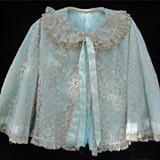 SALE YUMMY YUM Vintage Lace Bed Jacket!