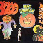 SALE Cute Lot Of Vintage Halloween Die Cuts