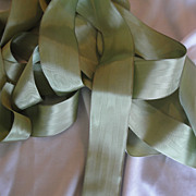 SALE Beautiful, Soft Sage Moire Ribbon