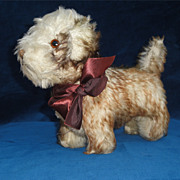 Wonderful Antique Mohair Terrier Dog