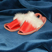 SALE Feminine 1940's Doll Slippers-Maribou!