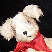 Irresistible Antique Mohair Dog-So CUTE