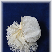 SALE Ultra Feminine Silk Doll Bonnet