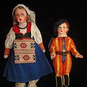SALE Cute Italian Mascotte Type Doll And A Friend!