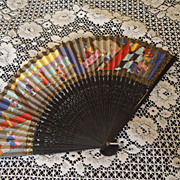 SALE Feminine Vintage Ladie's Silk Fan