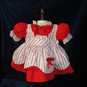 SOLD Charming Saucy Walker Doll Dress-Valentine Colors!