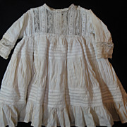 SOLD Most Darling Antique Doll Dress! Heirloom Sewing
