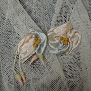 SOLD Antique French Passementerie Silk Flowers!
