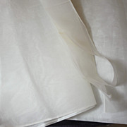 SALE Snowy White Silk Organdy Fabric From France!