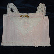 SALE Prettiest Pink Jumeau Doll Corset & Bebe Pin