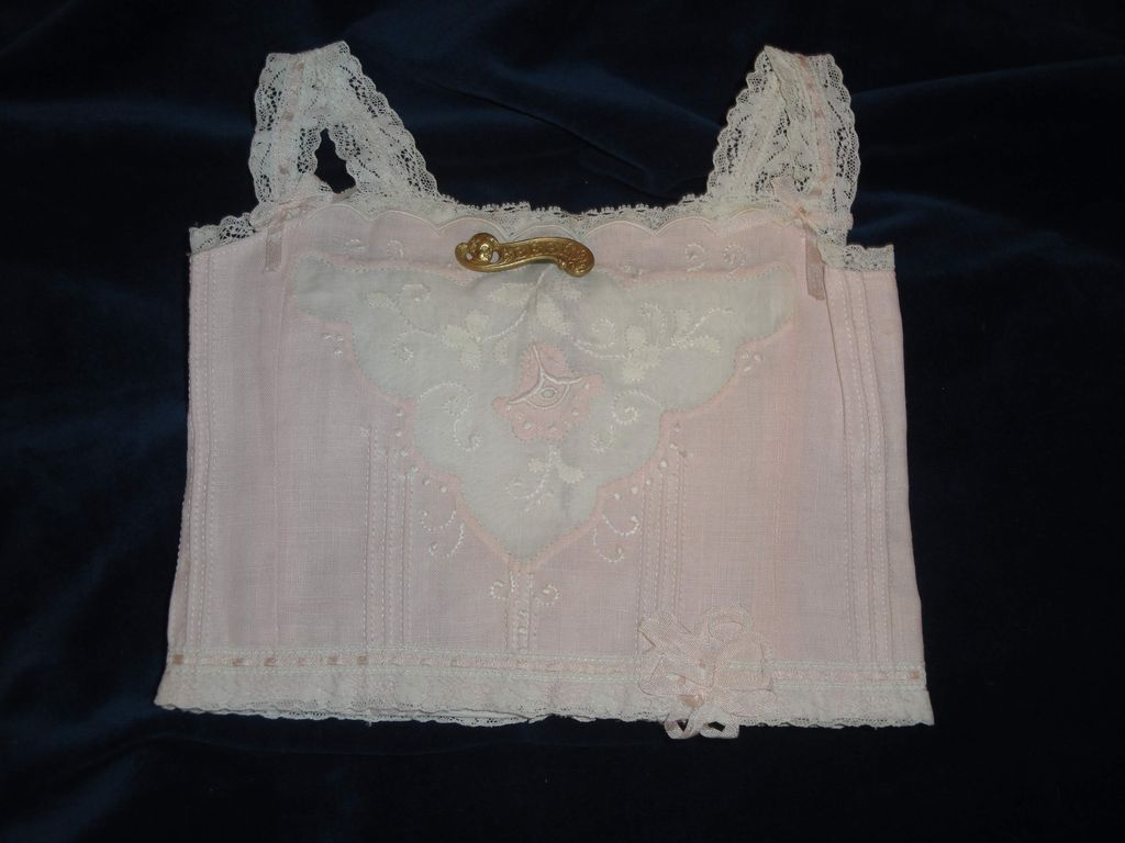 Prettiest Pink Jumeau Doll Corset & Bebe Pin