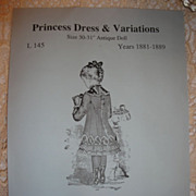 SALE Lyn Alexander Doll Dress Pattern-Large French Bebe!