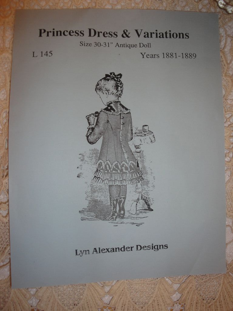 Lyn Alexander Doll Dress Pattern-Large French Bebe!