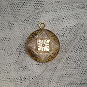 SALE PENDING Antique Medallion Pendant For Lady Doll