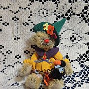 SALE RARE Original Deb Canham Scarecrow Bear