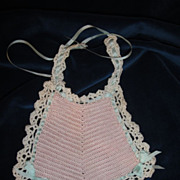 SOLD Shimmering Antique Silk Baby Doll Bib