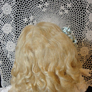 SALE Beautiful Antique Doll Wig-Long Blond Curls
