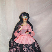 SALE Haughty Vintage Spanish Senorita Doll