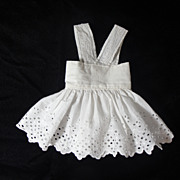SOLD Darling Antique Doll Pinafore-White Lace - Red Tag Sale Item