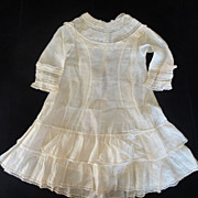 SOLD Beautiful Cotton Lawn Antique Doll Dress