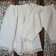 SOLD Two Antique Doll Undergarments-