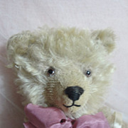 "SALE ""Cupcake"" Adorable Antique German Bear-Pink Mohair"