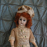 SALE Delicious Wool Doll Dress & Hat-French Lace