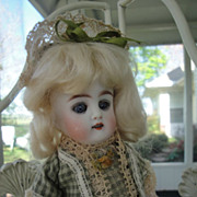 SOLD Darling Kestner All Bisque Doll-Large Size Cutie